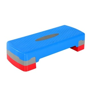 Soozier Adjustable Aerobic Fitness Platform Stepper - Blue