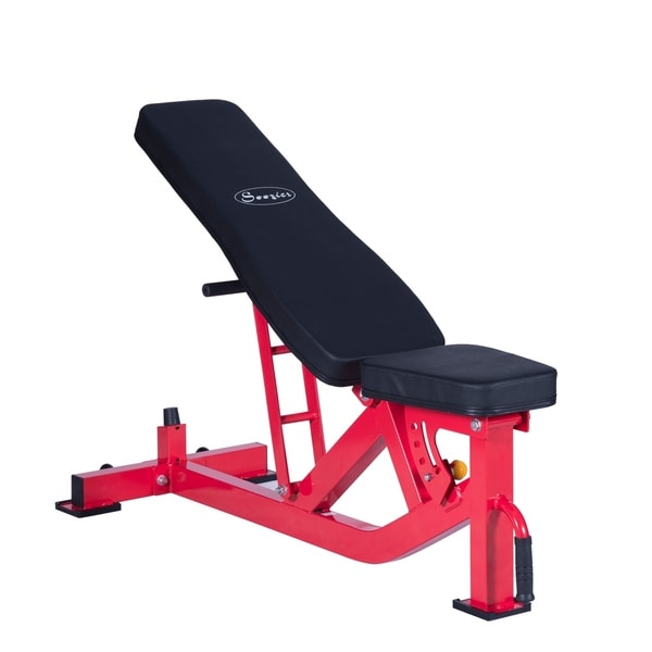 Soozier 10 Position Adjustable Home Fitness Weight Bench - Red