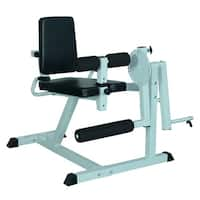 Soozier Adjustable Leg Curl Machine - White