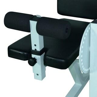 Soozier Adjustable Leg Curl Machine - White