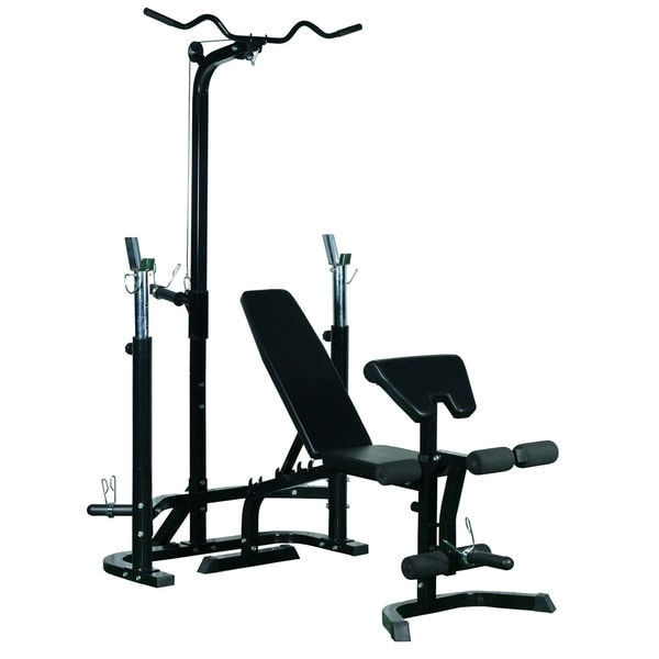 Shop Soozier Olympic Weight Bench Black Free Shipping