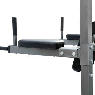 Soozier Fitness Power Tower with Dip Station & Pull Up Bar - gray