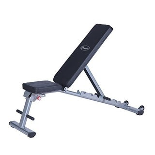 Soozier 7 Position Adjustable Foldable Weight Bench   Silver
