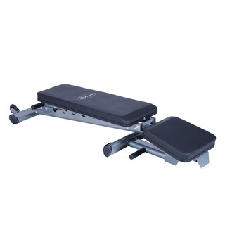 Soozier 7 Position Adjustable Foldable Weight Bench - Silver