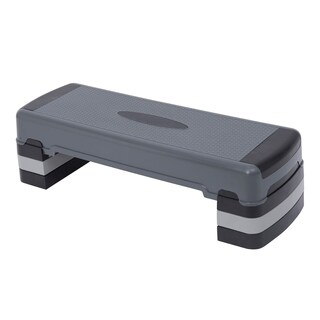 Soozier Adjustable Aerobic Step Fitness Platform - gray
