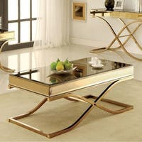 Sundance Contemporary Coffee Table, Brass