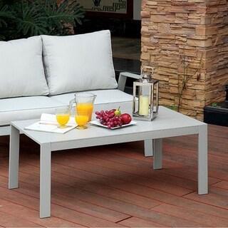 Benzara Cordelia Grey Aluminum Contemporary-style Coffee Table