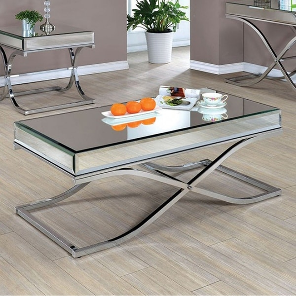 Sundance Contemporary Coffee Table, Chrome Finish