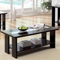 Luminar II Contemporary Style Coffee Table, Dark Espresso Finish