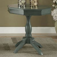 Iliana Transitional Octagon Accent Table, Antique Teal