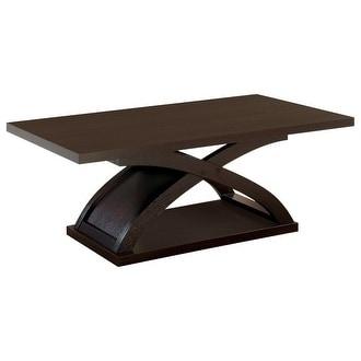 Arkley Contemporary Style Coffee Table Dark Walnut