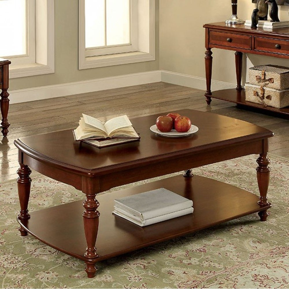 Samira Transitional Coffee Table In Walnut Finish Free Shipping Today 18020609