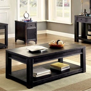 Meadow Transitional Coffee Table In Antique Black