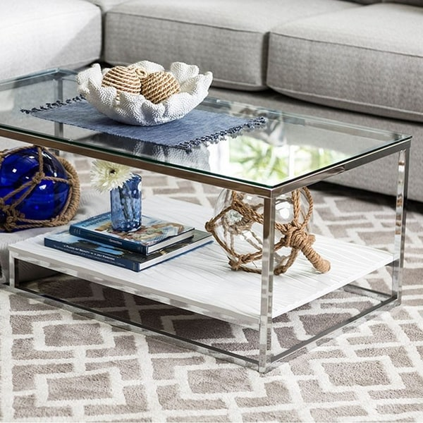 Vendi Contemporary Coffee Table, White