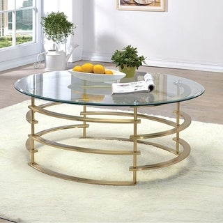 Clonmel Contemporary Coffee Table, Gold