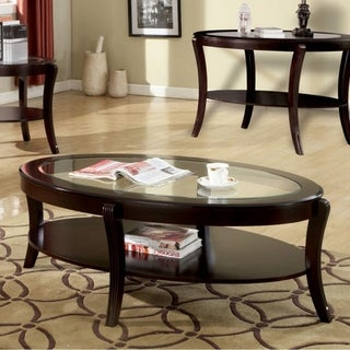 Finley Contemporary Coffee Table In Espresso Finish