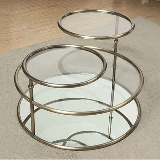 Athlone Contemporary Coffee Table, Champagne