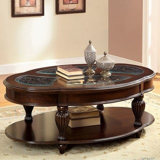 Centinel Traditional Coffee Table In Dark Cherry Finish