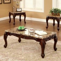 Lechester Traditional 3 PIECE TABLE SET, DarK Oak