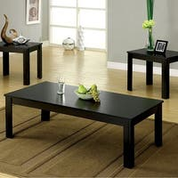 Bay Square Contemporary 3 Piece Table set, Black Finish