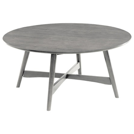 Shop Mei Mid Century Modern Coffee Table Gray Free Shipping Today