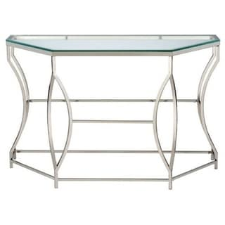 Zola Contemporary End Table, Chrome