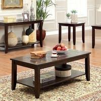 Townsend III Kivaha Coffee Table, Dark Cherry, Set Of 3