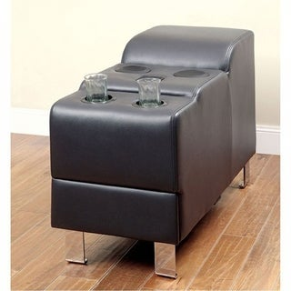 Kemina Black Bonded Leather Match Speaker Console
