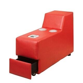 Floria Contemporary Speaker Console, Red