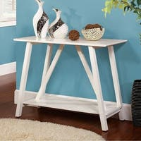Elgg Contemporary Style White Console Table