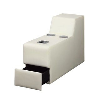 Floria Contemporary Style Speaker Console, White