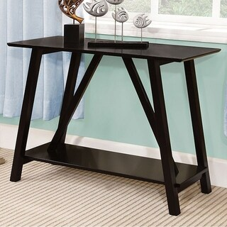 Elgg Contemporary Style Black Finish Hallway Entry Console Table