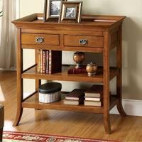 Wickenburg Transitional Side Table, Medium Oak