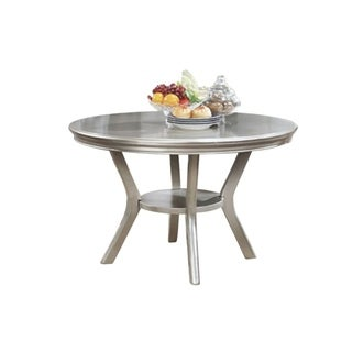 Amina Contemporary Round Dining Table, Champagne