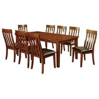 Foxville Transitional Style Rectangular Dining Table, Cherry Finish