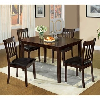 West Creek Transitional 5Pc Dining Table Set, Espresso Finish