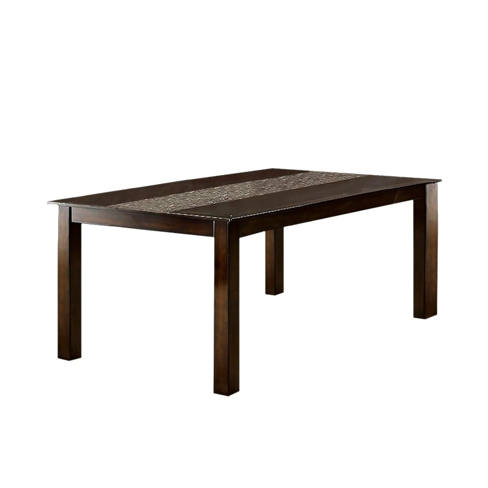 Townsend I Transitional Brown Cherry Finish Dining Table