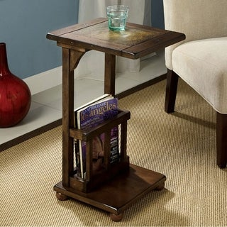 Wilcox Transitional Side Table, Antique Walnut Finish