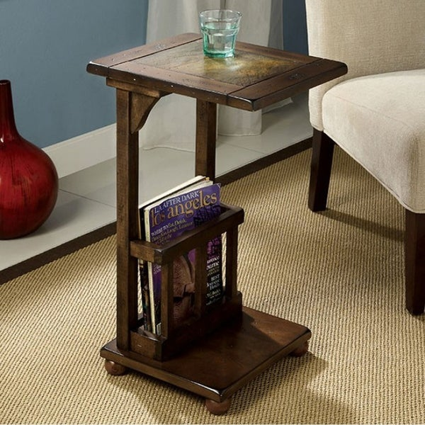 Shop Wilcox Transitional Side Table, Antique Walnut Finish   Free Shipping  Today   Overstock   18020804