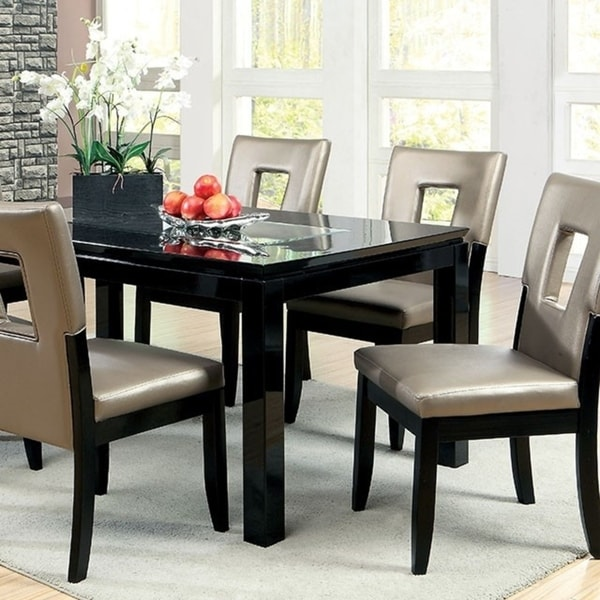 Evant I Contemporary Style Dining Table Black Free Shipping Today 18020827