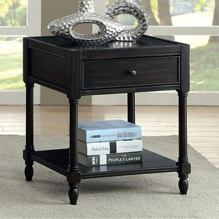 Ciara Vintage Style Side Table Antique Black Overstock 18020830