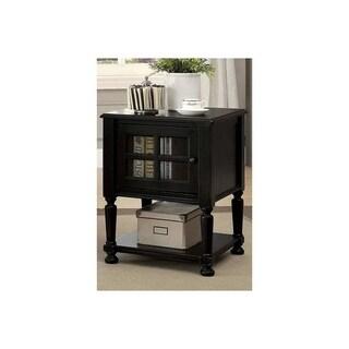 Jaida Vintage Style Side Table, Antique Black