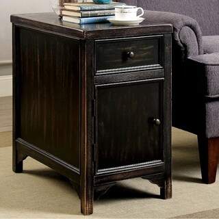 Meadow Transitional Style Side Table, Black
