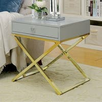 Rhona Contemporary Style Side Table, Gray