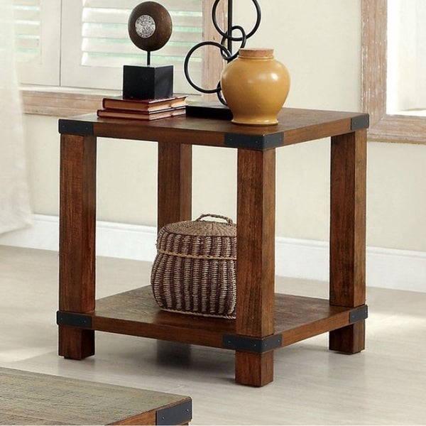 Broadus Transitional Style End Table