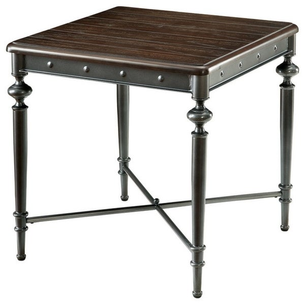 Ballina Industrial End Table, Matte Dark Gray