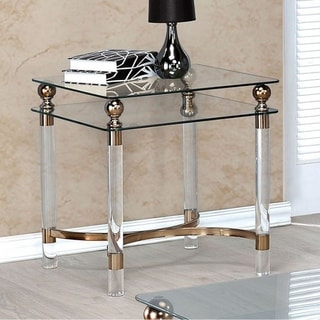 Castlebar Contemporary End Table, Gold