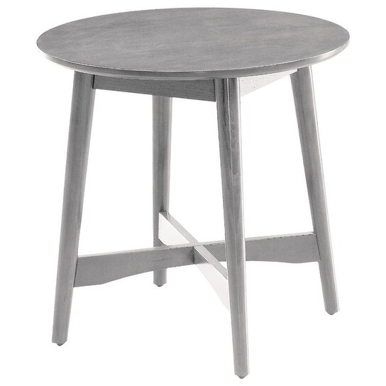 Shop Mei Mid Century Modern End Table, Gray   Free Shipping Today    Overstock   18020886