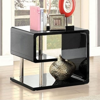 Ninove Contemporary Style End Table, Black