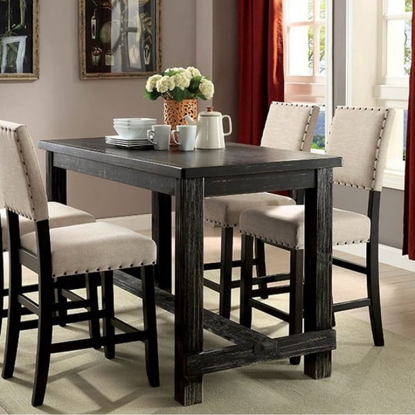 Sania II Transitional Counter Table In Antique Black